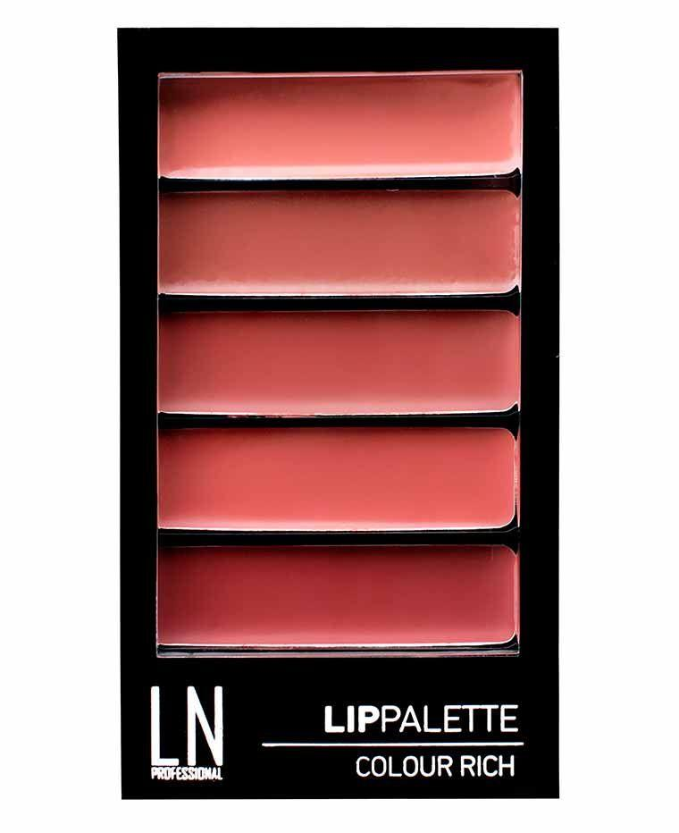 Набор помад для губ № 01, 6 г, LN Professional Lip Palette Colour Rich