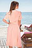 Шифоновое платье миди с вырезами на рукавах розовое, фото 3