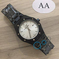 Мужские наручные часы (копия) Audemars Piguet Royal Oak Quartz Black-White