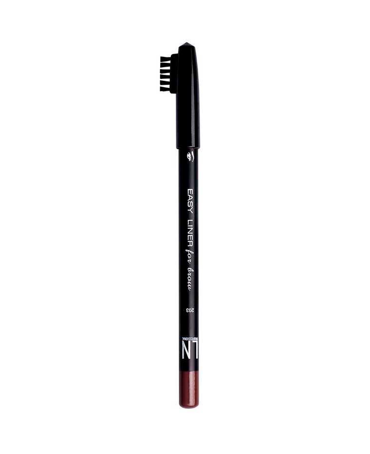 Карандаш для бровей со щеточкой, Светло-коричневый № 203, 1.7 г, LN Professional