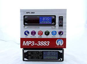 Автомагнітола MP3 3883 ISO, 1DIN сенсорний дисплей ZV