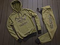 Женский легкий весенний/осенний/летний спортивный костюм хаки/зеленый адидас/Adidas, реплика