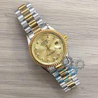 Мужские наручные часы (копия) Rolex Date Just New Silver-Gold-Gold
