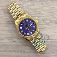 Мужские наручные часы (копия) Rolex Date Just New Gold-Blue