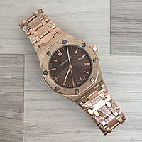 Мужские наручные часы (копия) Audemars Piguet Royal Oak Quartz Gold-Brown