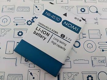 Батарея аккумуляторная NB-4510 Nomi BEAT M i4510 10045102011 Сервисный оригинал с разборки (до 10% износа)