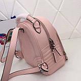 Рюкзак Прада Diagramme стёганный натуральная кожа, цвет розовый, фото 2