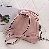 Рюкзак Прада Diagramme стёганный натуральная кожа, цвет розовый, фото 3