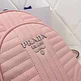 Рюкзак Прада Diagramme стёганный натуральная кожа, цвет розовый, фото 5