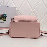 Рюкзак Прада Diagramme стёганный натуральная кожа, цвет розовый, фото 6