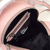 Рюкзак Прада Diagramme стёганный натуральная кожа, цвет розовый, фото 7