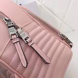 Рюкзак Прада Diagramme стёганный натуральная кожа, цвет розовый, фото 8