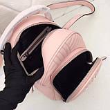 Рюкзак Прада Diagramme стёганный натуральная кожа, цвет розовый, фото 9