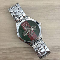 Женские наручные часы (копия) Gucci 6239 Silver-Green-Red