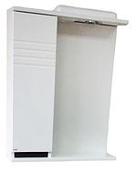 Зеркало ХАСТ Афина 55 + шкаф белый (левый)