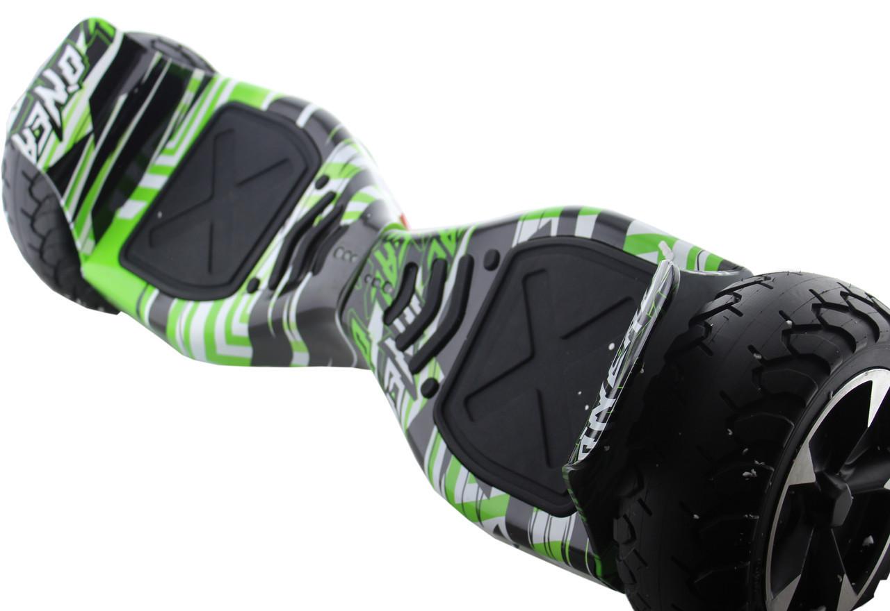 Гироборд 8.5 дюймов с bluetooth АКБ Samsung Автобаланс HM №1 Зеленное граффити ZNC