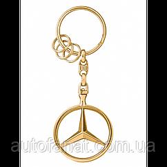 Оригинальный брелок Mercedes-Benz Key Chains Brussels, Gold-coloured (B66953741)