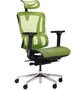 Кресло Luc Black, Alum, green