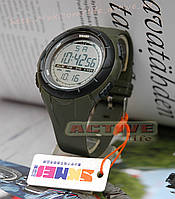 Мужские спортивные милитари часы, военные, Skmei 1025 (green) / - (ВІДЕО)
