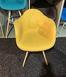 Кресло Leon Шерсть, желтое, фото 2