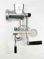 Мясорубка алюминиевая ручная люкс (полированная, никелированные нож и решетка) Полтава