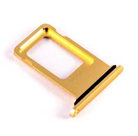 Лоток для сим карты для iPhone XR, желтый, на одну Sim-карту