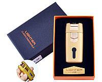 Зажигалка Lighter в подарочной коробке Lighter (Двойная молния) Gold