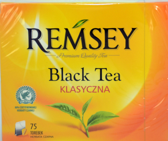 Чай Remsey Black Tea klasyczna 75 пакетов, фото 2