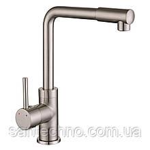 Змішувач для кухні, високий ніс, Imprese LOTTA сатин, 35 мм