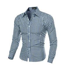 Рубашка с длинным рукавом синяя New 2020 код 131