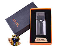 Зажигалка в подарочной коробке Lighter (Двойная молния) Black