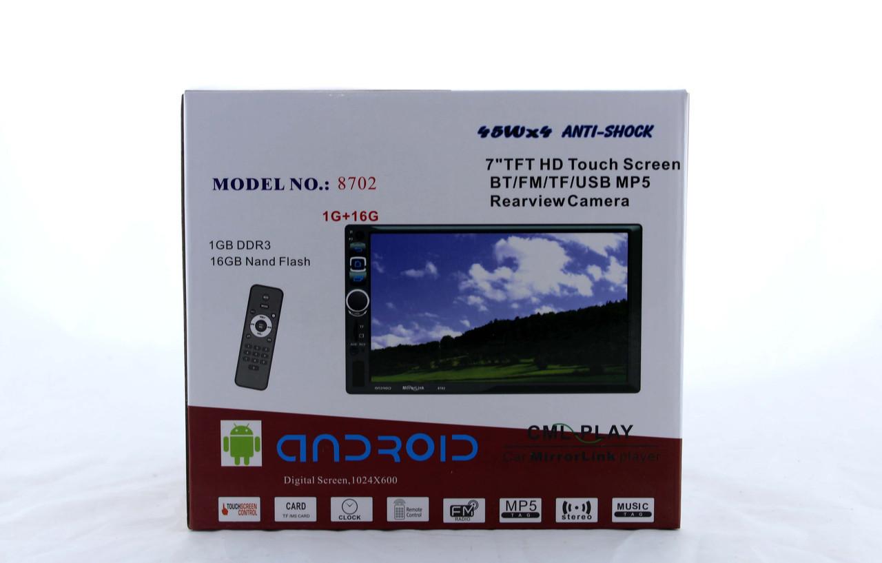 Автомагнітола MP3 8702 BT Android ZFF