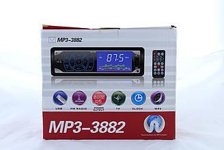 Автомагнітола MP3 3882 ISO, 1DIN сенсорний дисплей ZV