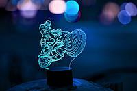 """3D светильник """"Человек-паук на мотоцикле"""" 3DTOYSLAMP"""