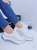 Стильные Женские кроссовки в стиле Nike 97 белые