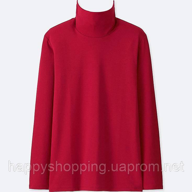 Женский  красный хлопковый гольф япокского бренда Uniqlo