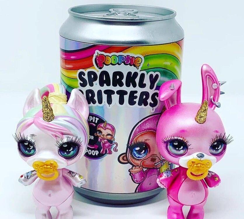 Оригинал!! Питомец Poopsie surprise Sparkly Critters Пупси любимец со слайм-аксессуарами в банке