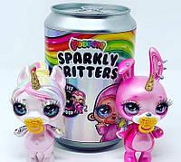 Оригинал!! Питомец Poopsie surprise Sparkly Critters Пупси любимец со слайм-аксессуарами в банке, фото 1