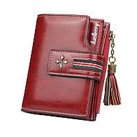 Жіночий гаманець BAELLERRY New Clover Short клатч Темно-Червоний (SUN4144), фото 1