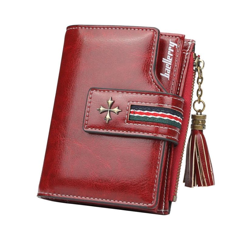 Жіночий гаманець BAELLERRY New Clover Short клатч Темно-Червоний (SUN4144)