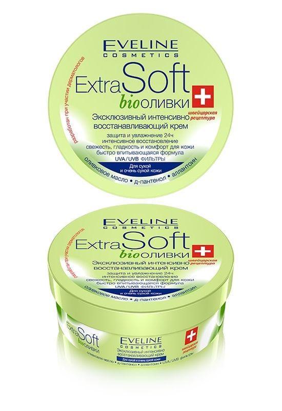 Эвелин Крем для лица и тела интенсивно восстанавливающий оливковый «Extra Soft Bio» Eveline Cosmetics, 200 мл