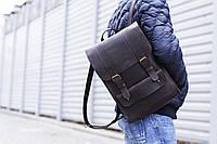 Кожаный мужской рюкзак ручной работы | Рюкзак для чоловіків з натуральної шкіри