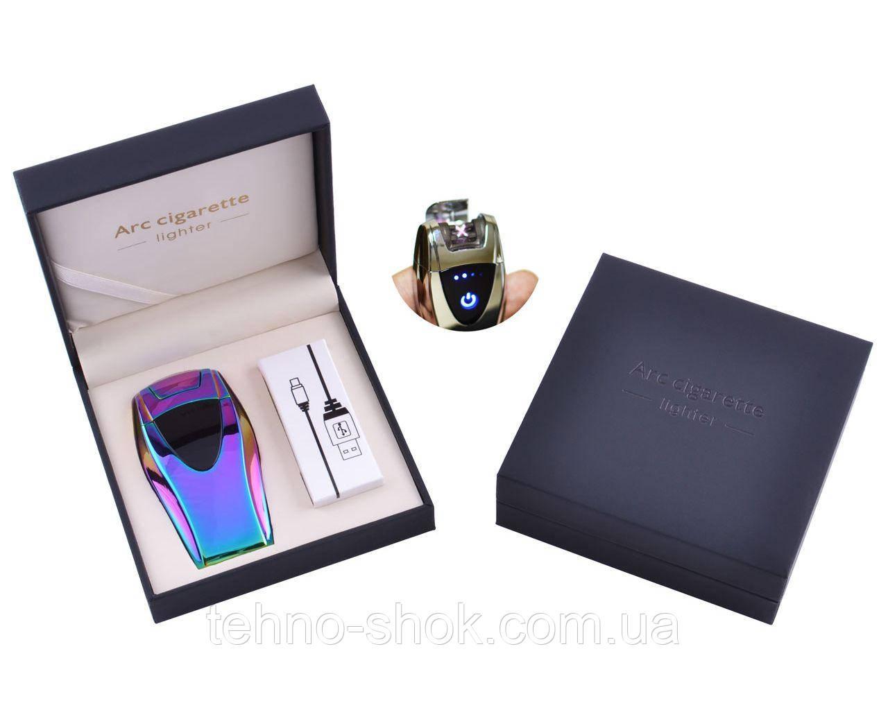 Электроимпульсная зажигалка в подарочной упаковке ArcCigarette (Двойная молния, USB) Хамелеон