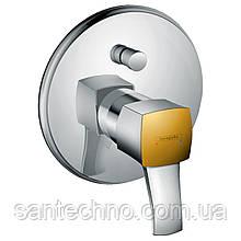 Metropol Classic Змішувач для ванни одноважільний, прихований монтаж, хром/золото