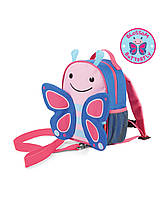 Мини рюкзак с ремешком безопасности Skip Hop Zoo Safety Harness, Бабочка. Оригинал