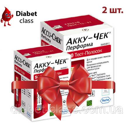 Тест-полоски Акку-Чек Перформа (Accu-Chek Performa) 100 шт. 2 упаковки