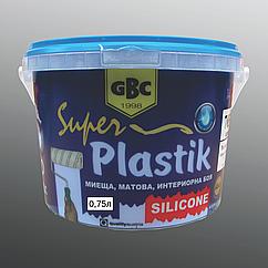 Силиконовая краска Gbc Super Plastik 0.75л