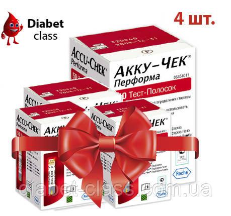 Тест-полоски Акку-Чек Перформа (Accu-Chek Performa) 100 шт. 4 упаковки