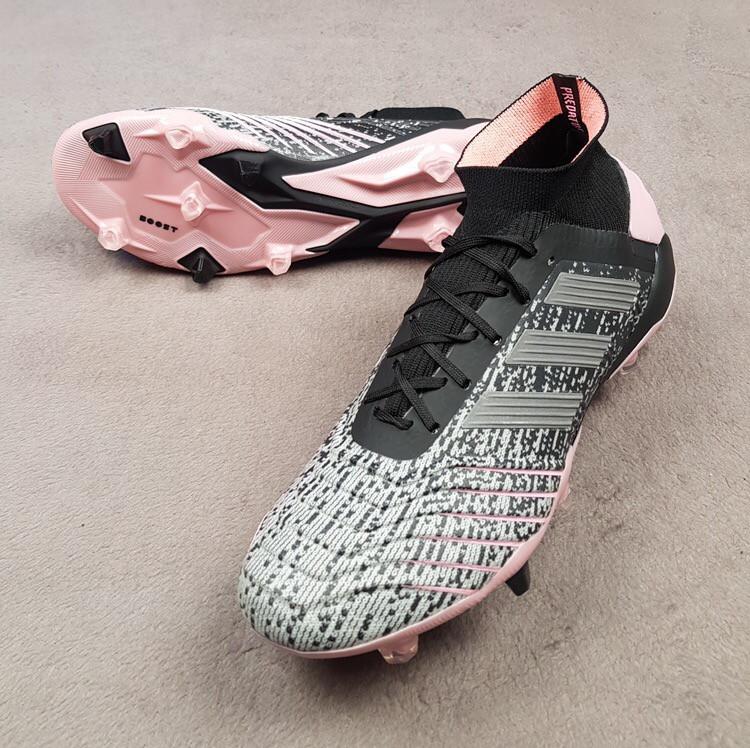 Футбольные бутсы Predator 19.1 FG/AG Exhibit - Pink Kvinde черно-розовые