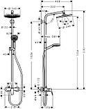 Душевая система с однорычажным смесителем Hansgrohe Crometta S 240 1jet Showerpipe, хром, фото 2